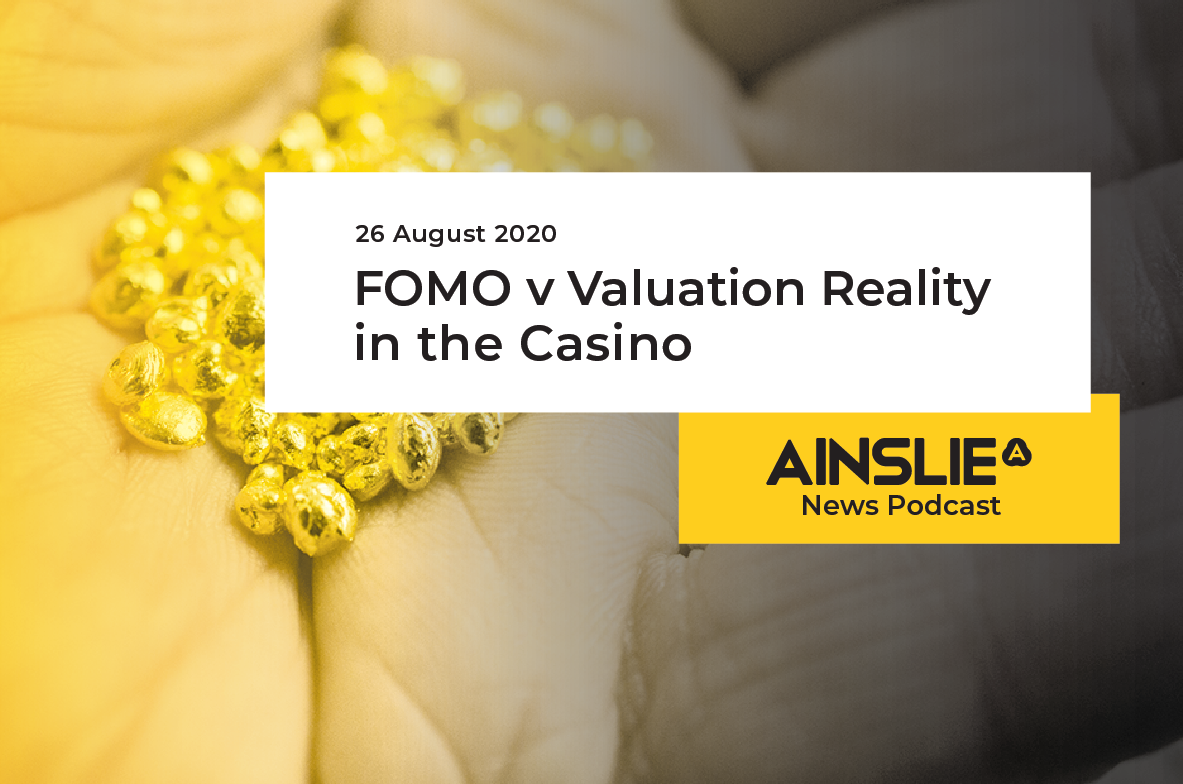 FOMO v Valuation Reality in the Casino