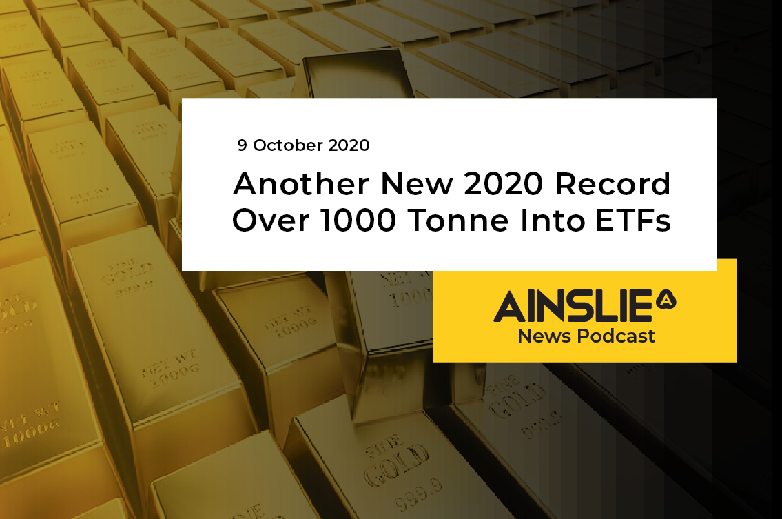 Another New 2020 Record – Over 1000 Tonne Into ETFs